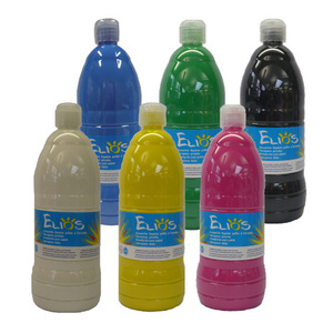 GOUACHE ELIOS 1 LITRE - LOT DE 6 FLACONS COULEURS ASSORTIES